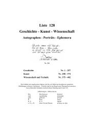 Liste 128 Geschichte - Kunst - Wiener Antiquariat Ingo Nebehay