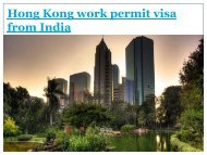 hong kong work permit visa from india