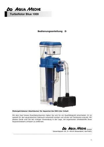 1 bedienungsanleitung reactor 1000 zoomoo aquaristik for Aquaristik shop