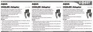 Instrucciones de uso / Aqua Cooler Adaptador - Dohse Aquaristik KG
