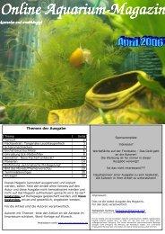 Online Aquarium Online Aquarium-Magazin Magazin kostenlos und