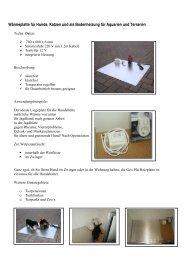 Wärmeplatte für Hunde, Katzen und als Bodenheizung für Aquarien ...