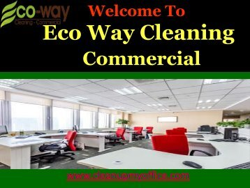 Commercial Cleaning Services New Jersey |ECO-WAY Cleaning Commercial
