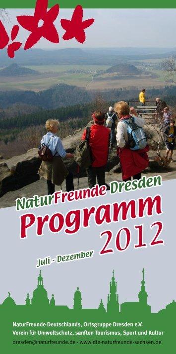 Ortsgruppe Dresden - 2. Halbjahr - NaturFreunde Sachsen eV