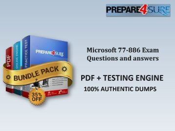 77-886 Exam Dumps with Authentic 77-886 Exam Questions