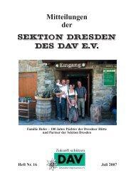 Heft Nr. 16 Juli 2007 - Deutscher Alpenverein Sektion Dresden