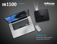 InFocus IN1100 Series Datasheet - Projector Central