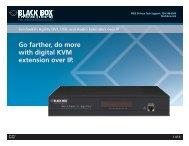 Product Data Sheets (pdf)...ServSwitch Agility DVI, USB - Black Box