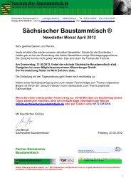 Newsletter Sächsischer Baustammtisch April 2012