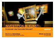 zum Vortrag - Wilhelm von Finck Deutsche Family Office AG