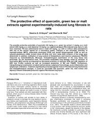 The protective effect of quercetin, green tea or malt extracts against ...