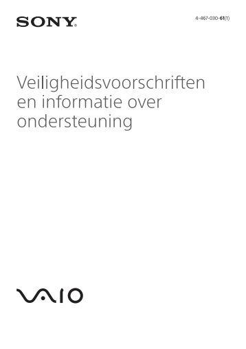 Sony SVS13A1Y9E - SVS13A1Y9E Documents de garantie Néerlandais