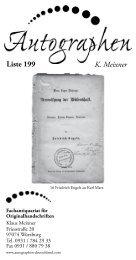 K. Meixner Liste 199 - Autographen Deutschland