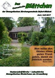 Gemeinde- Blättchen Juni Juli 2017