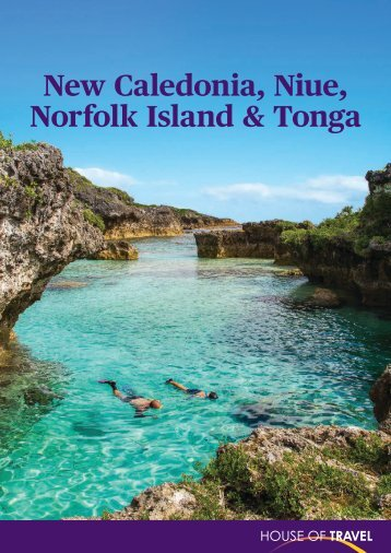 New Caledonia, Niue, Norfolk Island & Tonga Brochure 2017