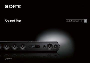Sony HT-ST7 - HT-ST7 Mode d'emploi Suédois