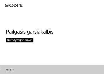 Sony HT-ST7 - HT-ST7 Guide de référence Lituanien