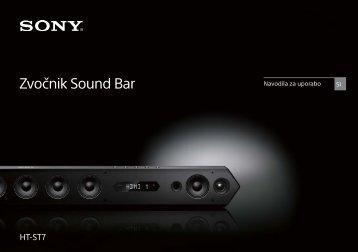 Sony HT-ST7 - HT-ST7 Mode d'emploi Slovénien