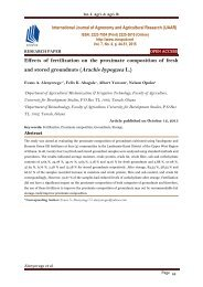 Effects of fertilization on the proximate composition of fresh and stored groundnuts (Arachis hypogaea L.)