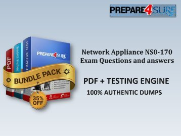 NS0-170 Exam Dumps with Updated Network Appliance NS0-170 Answers