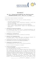 Protokoll - Schweizerischer Hebammenverband