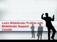 Learn Bitdefender Profiles with Bitdefender Support Canadav