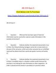 AB 219 Quiz 5