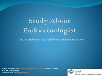 Endocrinologist email list for business