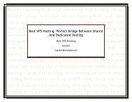 Best VPS Hosting: Perfect Bridge Between Shared And Dedicated Hosting