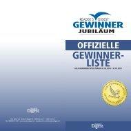 GEWINNER- LISTE - Reader's Digest