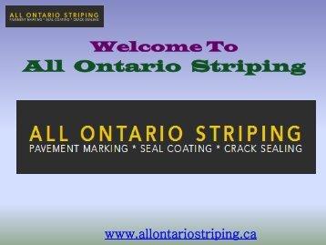 Sealcoating Toronto| All Ontario Striping