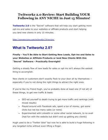 Twitworkz 2.0 Detail Review and Twitworkz 2.0 $22,700 Bonus