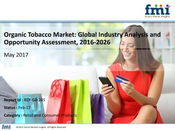 Organic Tobacco Market Will hit at a CAGR 6.2% during 2016– 2026