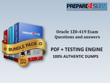 1Z0-419 Exam Dumps with Authentic 1Z0-419 Exam Questions