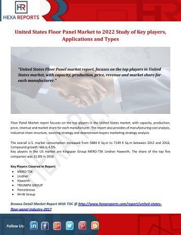 United States Floor Panel Market to 2022 Study of Key players, Applications and Types