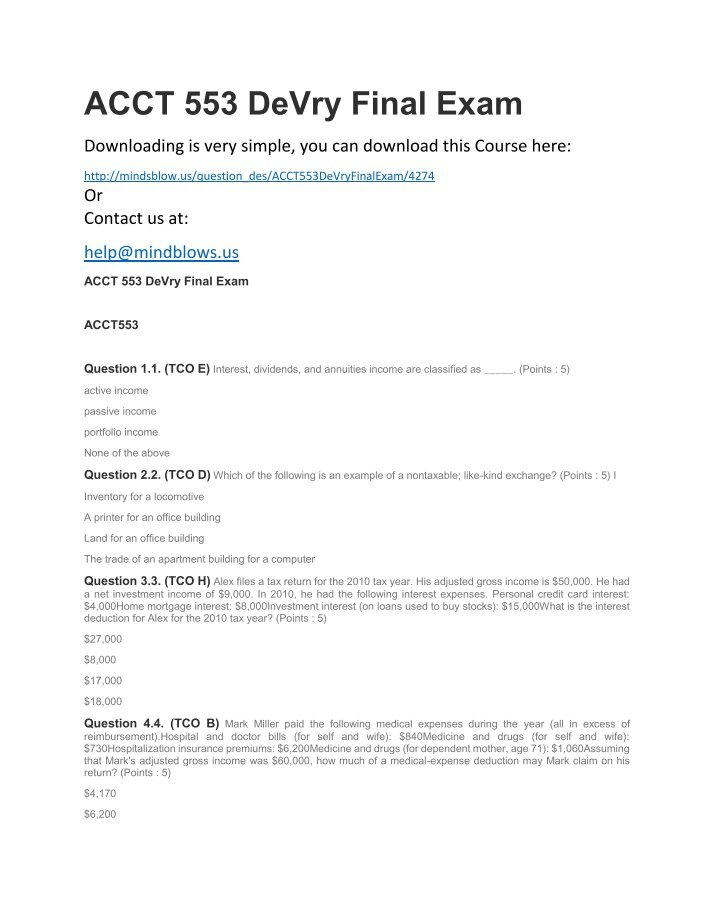 final exam solution Final exam solutions  this site contains fully explained solutions to questions from all past final exams for mat a32 - calculus for management 1, university of toronto scarborough campus first year course.