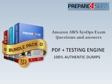 AWS-SysOps Dumps Training Material  Amazon AWS-SysOps PDF Dumps AWS-SysOps Questions