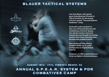 Join Tony Blauer, with special guest Greg Glassman (Founder ...