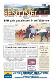 BHS girls get a lesson in self defense - The Sentinel