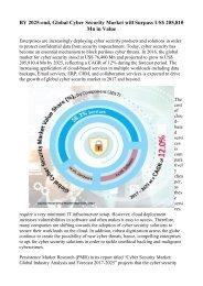 Global Cyber Security Market by Segmentation 2017-2025