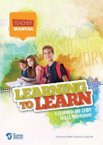 Learning to Learn -  Teacher Manual Introduction