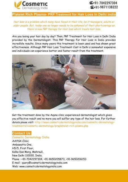 Platelet Rich Plasma Prp Treatment For Hair Loss In Delhi India