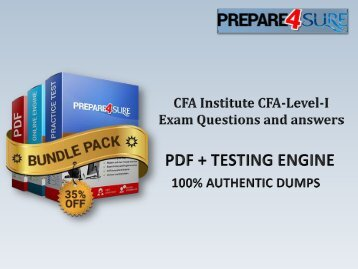 The Best Way To Pass CFA-Level-I Exam with Real CFA-Level-I PDF Dumps - Get Valid CFA-Level-I Braindumps