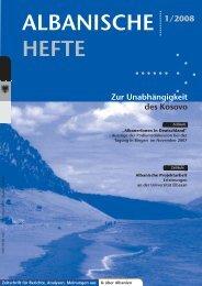 Albanische Hefte 1-2008 - Deutsch-Albanische ...