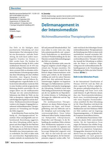07 Delirmanagement in der Intensivmedizin