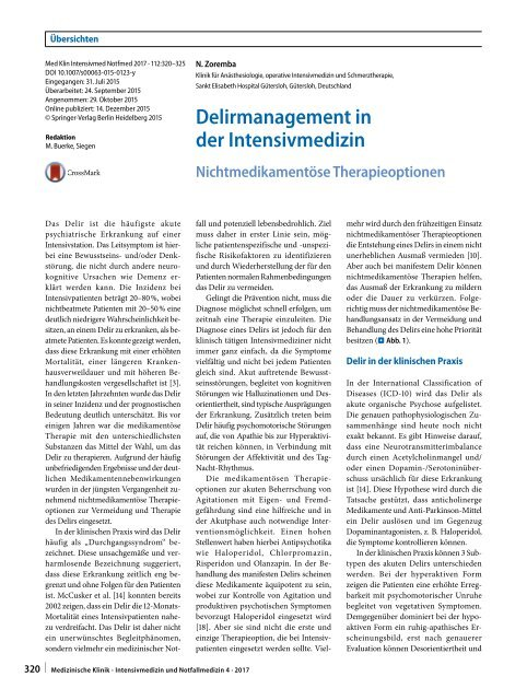 07 Delirmanagement in der Intensivmedizin