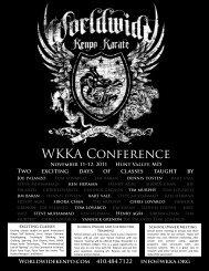WKKA conference schedule - Worldwide Kenpo Karate Association