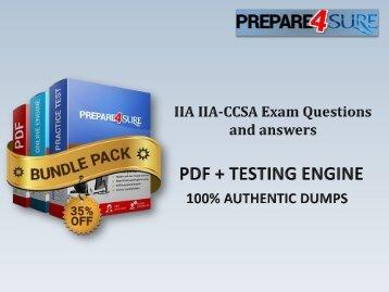 Valid IIA-CCSA Dumps PDF - IIA-CCSA Practice Test Questions