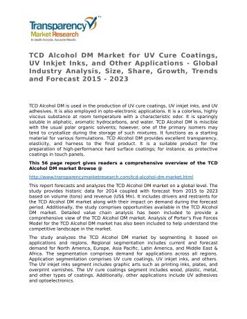 TCD Alcohol DM Market - Global Industry Analysis, Size, Share, Growth, Trends and Forecast 2015 - 2023