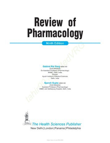 Review of Pharmacology - 9E (2015)
